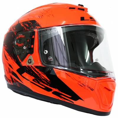 LS2 Helmets Helm Breaker FF390 Swat, fluoorange-schwarz