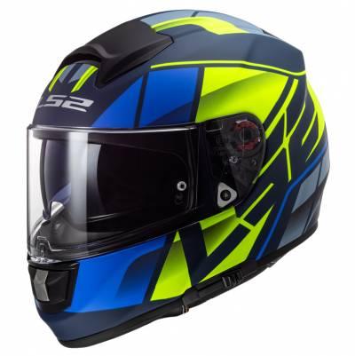 LS2 Helmets Helm Vector Evo FF397 Kripton, blau-fluogelb matt