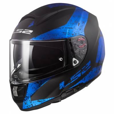 LS2 Helmets Helm Vector Evo FF397 Sign, schwarz-blau matt