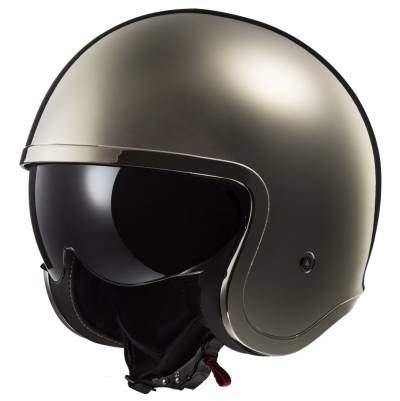 LS2 Helmets Jethelm Spitfire Solid OF599, chrom