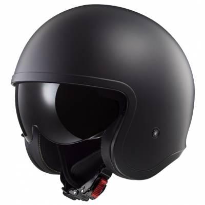 LS2 Helmets Jethelm Spitfire Solid OF599, schwarz-matt