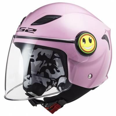 LS2 Helmets Kinder Jethelm Funny Solid OF602, pink