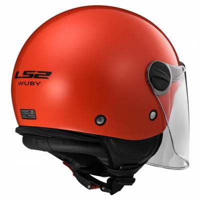 LS2 Helmets Kinder Jethelm Wuby Solid OF575J, rot