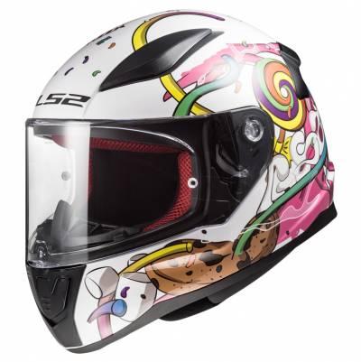 LS2 Helmets Kinderhelm Rapid Mini FF353J Crazy Pop, weiß-pink