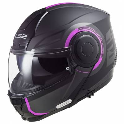 LS2 Helmets Klapphelm Scope Arch FF902, titan-pink matt