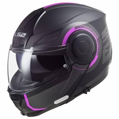 LS2 Helmets Klapphelm Scope Arch FF902, titan-pink matt