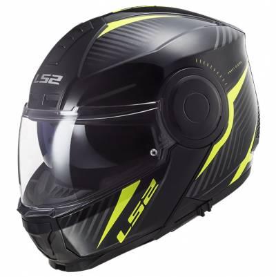 LS2 Helmets Klapphelm Scope Skid FF902, schwarz-fluogelb