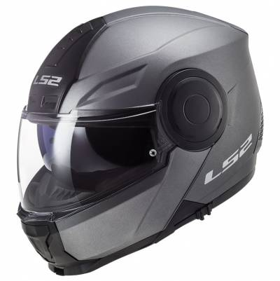 LS2 Helmets Klapphelm Scope Solid FF902, titan matt