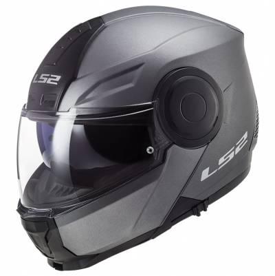 LS2 Helmets Klapphelm Scope Solid FF902, titan matt