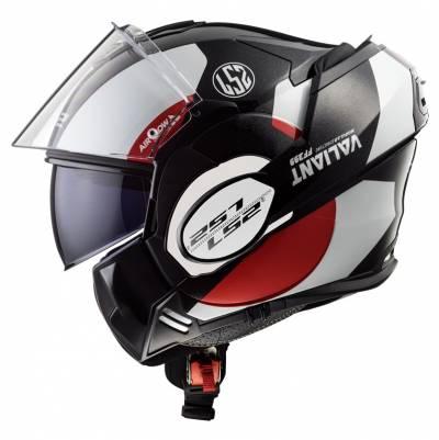 LS2 Helmets Klapphelm Valiant FF399 Avant , weiß-schwarz-rot