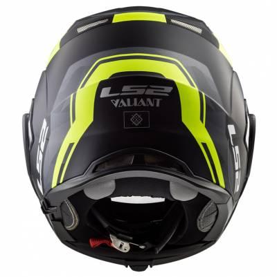 LS2 Helmets Klapphelm Valiant FF399 Line , schwarz-fluogelb matt