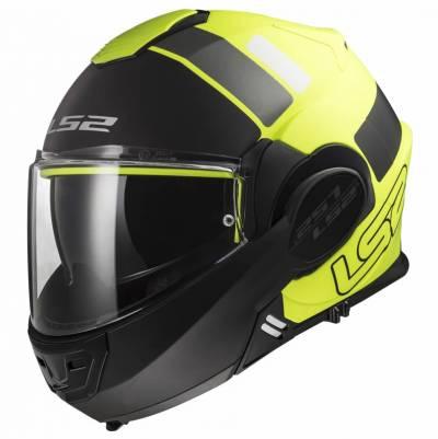 LS2 Helmets Klapphelm Valiant FF399 Prox, fluogelb-schwarz matt