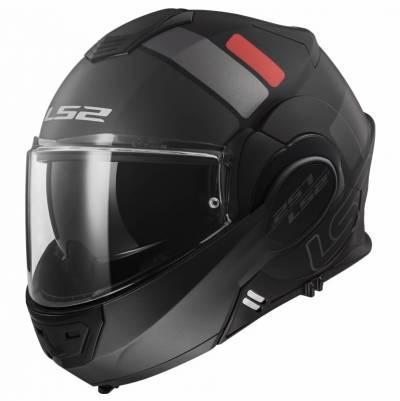 LS2 Helmets Klapphelm Valiant FF399 Prox, schwarz-titan-rot matt
