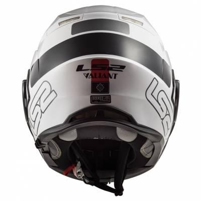 LS2 Helmets Klapphelm Valiant FF399 Prox, schwarz-weiß-rot
