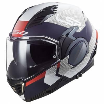 LS2 Helmets Klapphelm Valiant II Citius FF900, weiß-blau