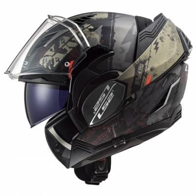 LS2 Helmets Klapphelm Valiant II Gripper FF900, antik gold matt