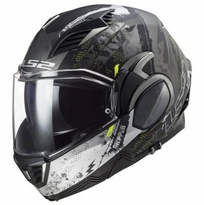 LS2 Helmets Klapphelm Valiant II Gripper FF900, titan matt