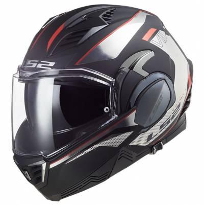 LS2 Helmets Klapphelm Valiant II Hub FF900, schwarz-chrom