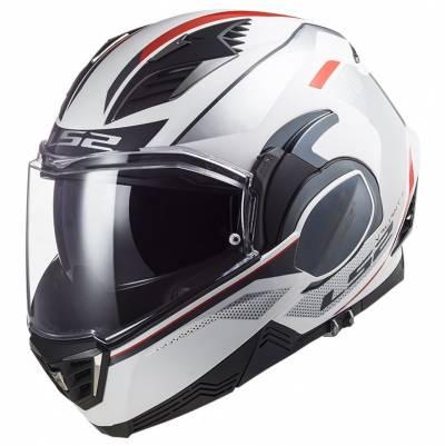 LS2 Helmets Klapphelm Valiant II Hub FF900, weiß-silber