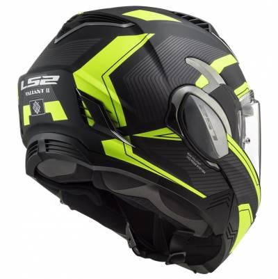 LS2 Helmets Klapphelm Valiant II Revo FF900, schwarz-fluogelb matt