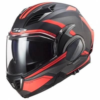 LS2 Helmets Klapphelm Valiant II Revo FF900, titan-fluoorange matt