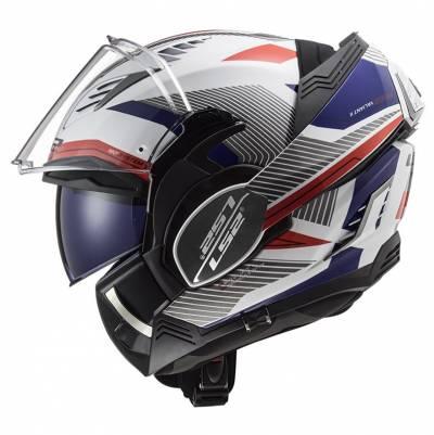 LS2 Helmets Klapphelm Valiant II Revo FF900, weiß-rot-blau