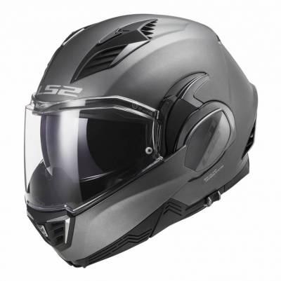 LS2 Helmets Klapphelm Valiant II Solid FF900, titan matt