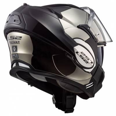 LS2 Helmets Klapphelm Valiant Solid FF399, chrom