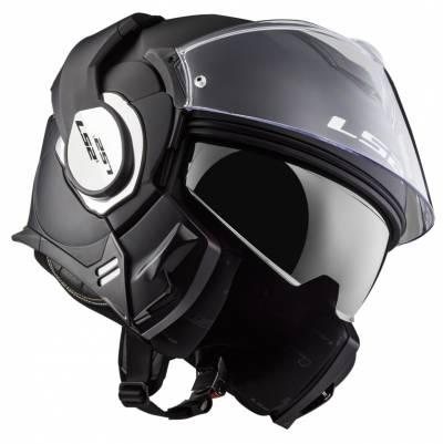 LS2 Helmets Klapphelm Valiant Solid FF399, schwarz matt
