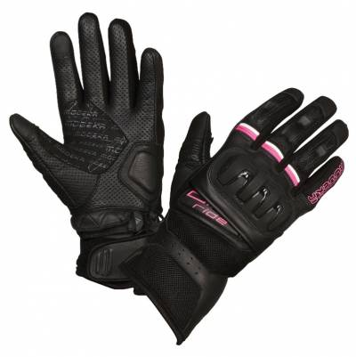 Modeka Damen Handschuhe Air Ride Lady, schwarz-pink