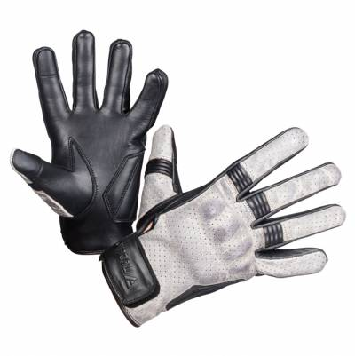 Modeka Damen Handschuhe Hot Two Lady, hellgrau-schwarz