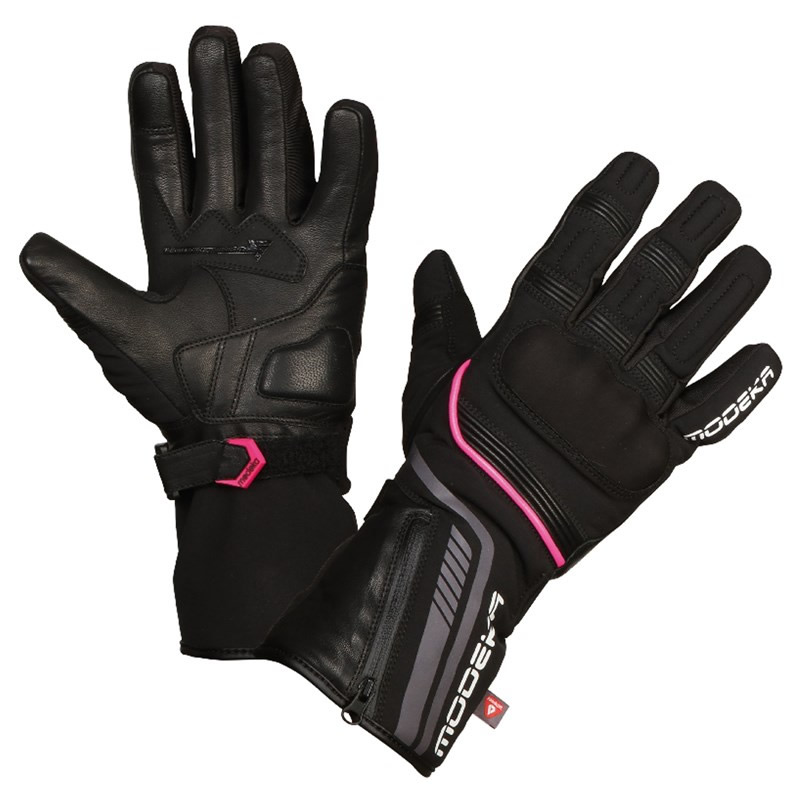 Modeka Damen Handschuhe Makari Lady, schwarz-pink