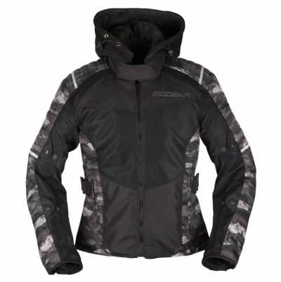 Modeka Damen Textiljacke Couper II Lady, schwarz-camouflage