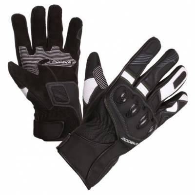 Modeka Handschuhe Challenge Short, schwarz-weiß