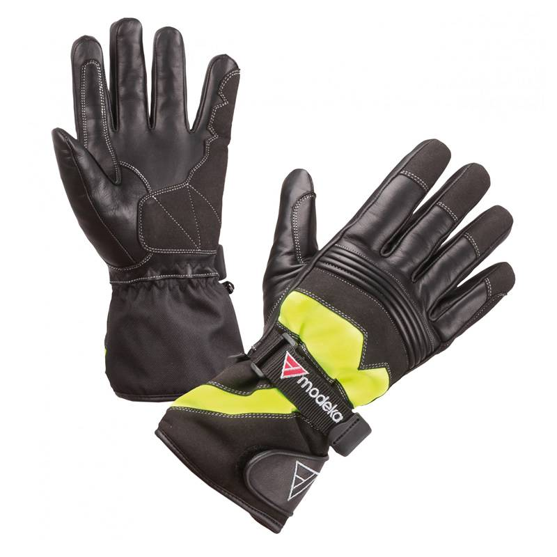 Modeka Handschuhe Freeze Evo Kids, schwarz-gelb
