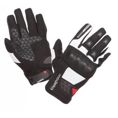 Modeka Handschuhe Fuego, schwarz-hellgrau