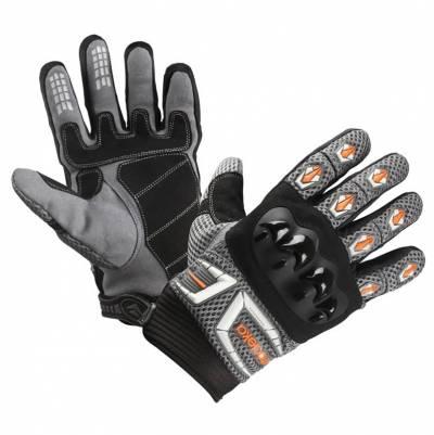 Modeka Handschuhe MX Top, grau-weiß-orange