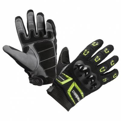 Modeka Handschuhe MX Top, schwarz-fluogelb