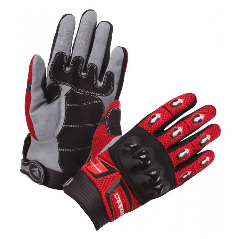 Modeka Handschuhe MX Top, schwarz-rot