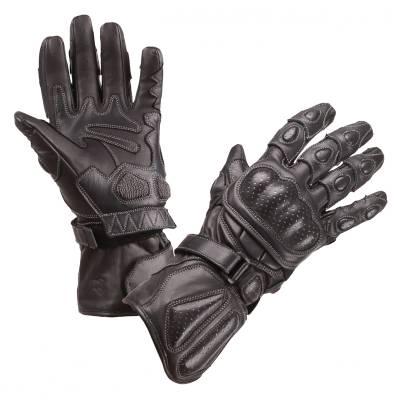 Modeka Handschuhe Racing Pro, schwarz-schwarz