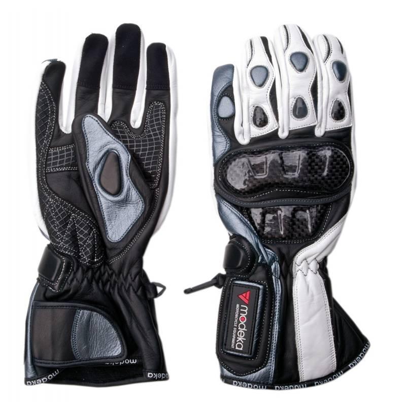 Modeka Handschuhe Sportie, schwarz-weiß