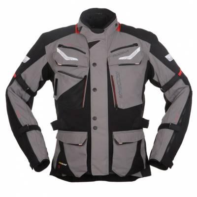 Modeka Herren Textiljacke Chekker, schwarz-grau