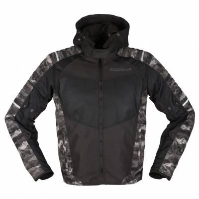 Modeka Herren Textiljacke Couper II, schwarz-camouflage