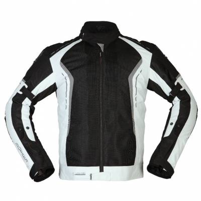 Modeka Herren Textiljacke Khao Air, schwarz-hellgrau