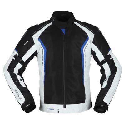 Modeka Herren Textiljacke Khao Air, schwarz-hellgrau-blau