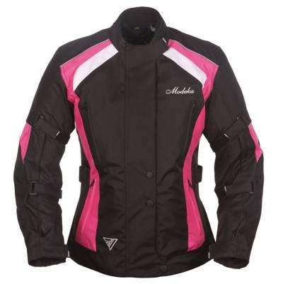 Modeka Jacke Janika Lady, schwarz-pink