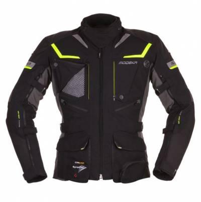 Modeka Jacke Panamericana, schwarz-fluogelb