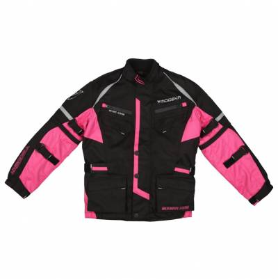Modeka Jacke Tourex II Kids, schwarz-pink