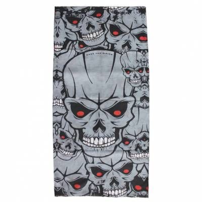 Modeka Multifunktionstuch, Skulls grey