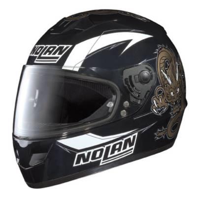 Nolan B-Ware - Helm N62 Graphic #68, schwarz-weiß-gold